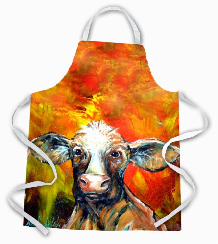 Carolines Treasures  MW1225APRON Another Happy Cow Apron Perspective: front