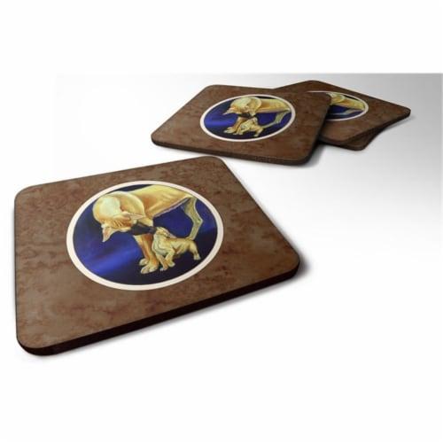 Carolines Treasures 7208FC Great Dane & Puppy Foam Coaster, 3.5 x 0.25 x 3.5 in. - Set of 4 Perspective: front