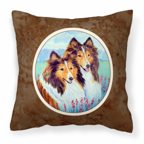 Sable Shelties Double Trouble Fabric Decorative Pillow Perspective: front
