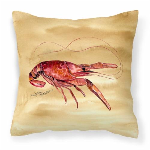 Carolines Treasures  8230PW1414 Crawfish Fabric Decorative Pillow Perspective: front