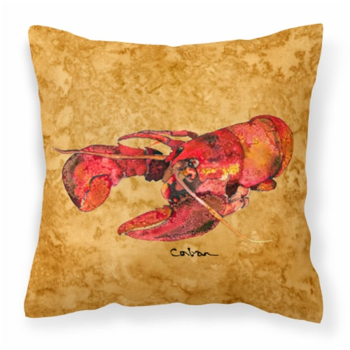 Carolines Treasures  8715PW1414 Lobster Fabric Decorative Pillow Perspective: front