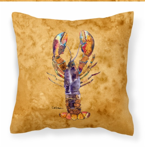 Carolines Treasures  8716PW1414 Lobster Fabric Decorative Pillow Perspective: front