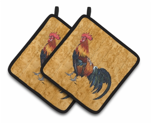 Carolines Treasures  Rooster Pair of Pot Holders Perspective: front