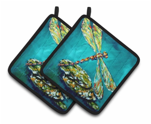 Carolines Treasures  MW1144PTHD Insect - Dragonfly Matin Pair of Pot Holders Perspective: front