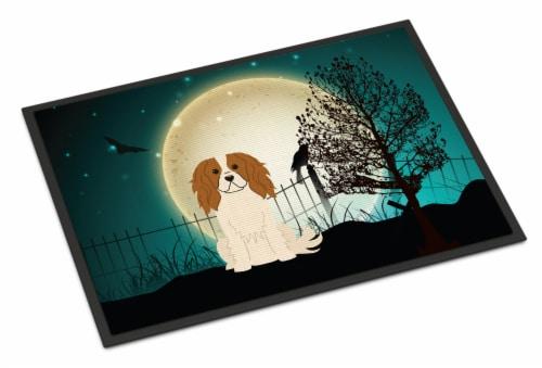 Halloween Scary Cavalier Spaniel Indoor or Outdoor Mat 24x36 Perspective: front