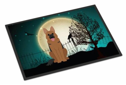 Halloween Scary German Shepherd Indoor or Outdoor Mat 24x36 Perspective: front