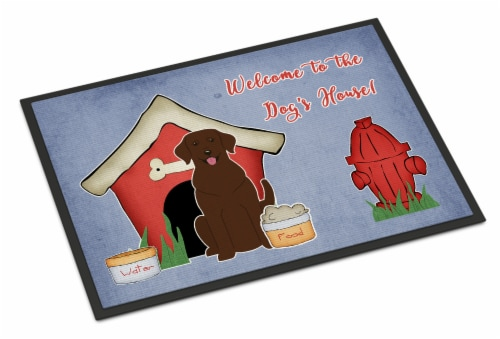 Dog House Collection Chocolate Labrador Indoor or Outdoor Mat 24x36 Perspective: front