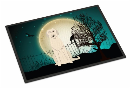 Halloween Scary Irish Wolfhound Indoor or Outdoor Mat 18x27 Perspective: front