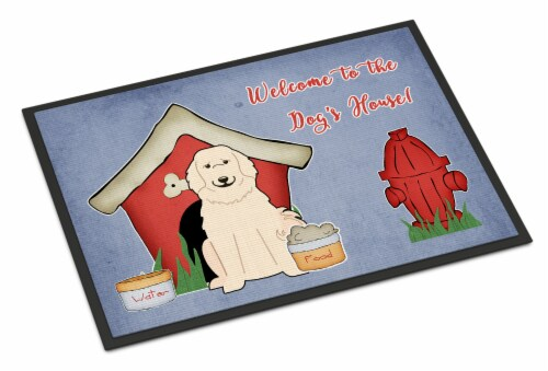 Dog House Collection Great Pyrenese Indoor or Outdoor Mat 18x27 Perspective: front