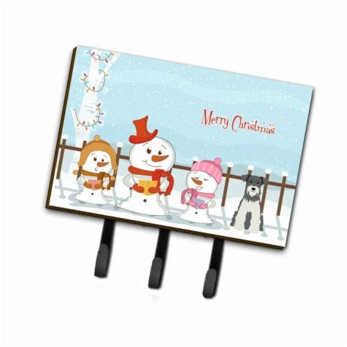 Carolines Treasures BB2385TH68 Merry Christmas Carolers Miniature Schanuzer Salt & Pepper Lea Perspective: front