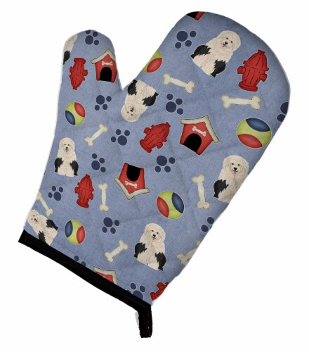 Dog House Collection Old English Sheepdog Oven Mitt Perspective: front