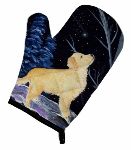 Carolines Treasures  SS8392OVMT Starry Night Golden Retriever Oven Mitt Perspective: front