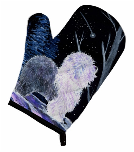 Carolines Treasures  SS8401OVMT Starry Night Old English Sheepdog Oven Mitt Perspective: front