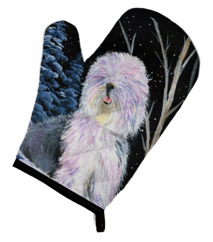 Carolines Treasures  SS8409OVMT Starry Night Old English Sheepdog Oven Mitt Perspective: front