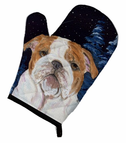 Carolines Treasures  SS8447OVMT Starry Night English Bulldog Oven Mitt Perspective: front