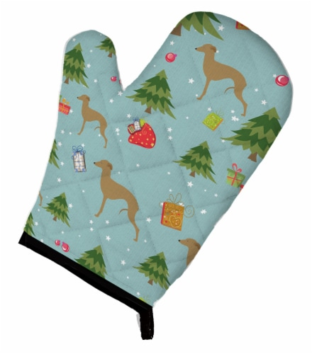 Carolines Treasures  BB4838OVMT Christmas Italian Greyhound Oven Mitt Perspective: front