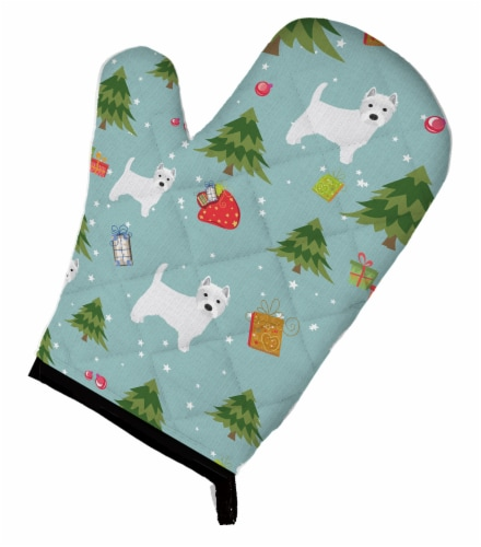Carolines Treasures  BB4988OVMT Christmas West Highland White Terrier Oven Mitt Perspective: front