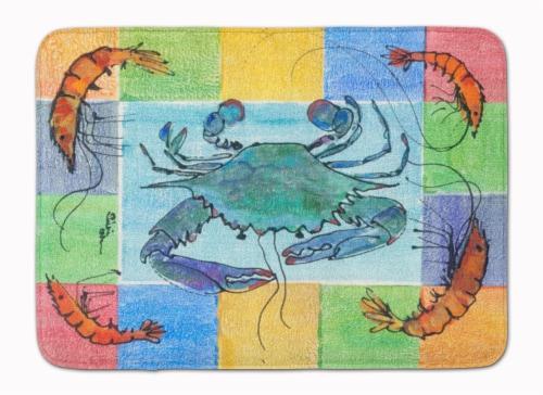 Carolines Treasures  8040-RUG Crab Machine Washable Memory Foam Mat Perspective: front