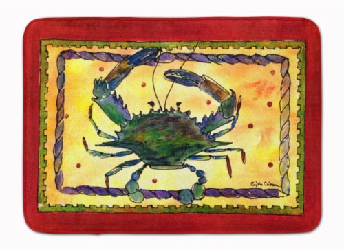 Carolines Treasures  8058-RUG Crab Machine Washable Memory Foam Mat Perspective: front