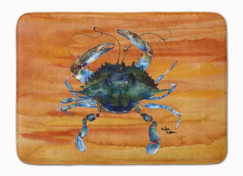 Carolines Treasures  8143-RUG Crab Machine Washable Memory Foam Mat Perspective: front