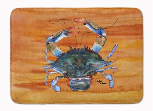 Carolines Treasures  8144-RUG Crab Machine Washable Memory Foam Mat Perspective: front