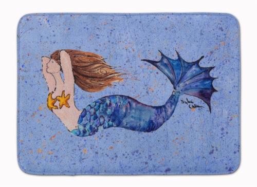 Carolines Treasures  8337-RUG Mermaid  Machine Washable Memory Foam Mat Perspective: front