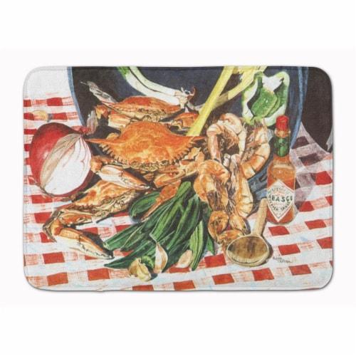 Carolines Treasures  8537RUG Crab Boil Machine Washable Memory Foam Mat Perspective: front