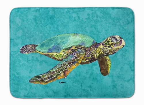 Carolines Treasures  8659RUG Turtle Machine Washable Memory Foam Mat Perspective: front