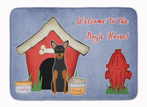 Dog House Collection Manchester Terrier Machine Washable Memory Foam Mat Perspective: front