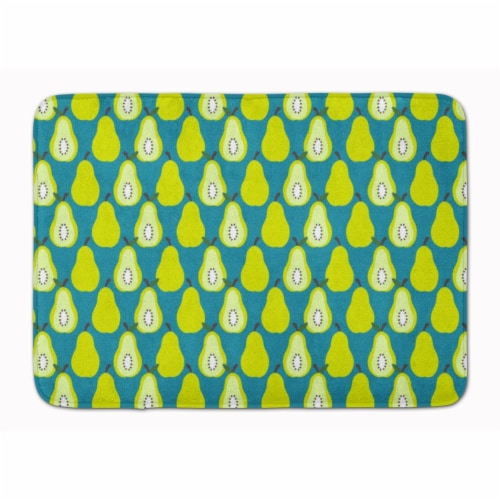 Carolines Treasures  BB5138RUG Pears on Green Machine Washable Memory Foam Mat Perspective: front