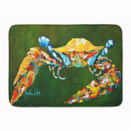 Carolines Treasures  MW1157RUG Go Green Crab Machine Washable Memory Foam Mat Perspective: front