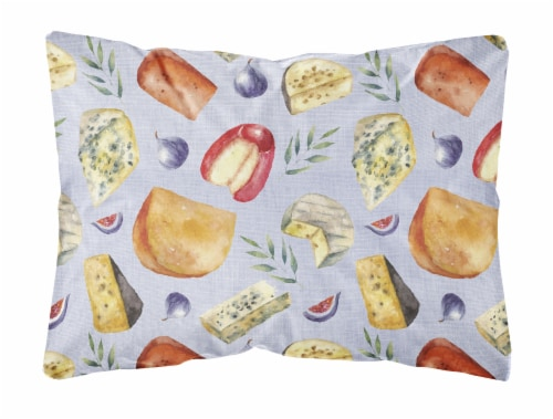 Assortment of Cheeses Canvas Fabric Decorative Pillow Perspective: front