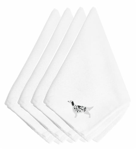 Carolines Treasures  BB3381NPKE English Setter Embroidered Napkins Set of 4 Perspective: front