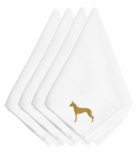 Carolines Treasures  BB3388NPKE Pharaoh Hound Embroidered Napkins Set of 4 Perspective: front