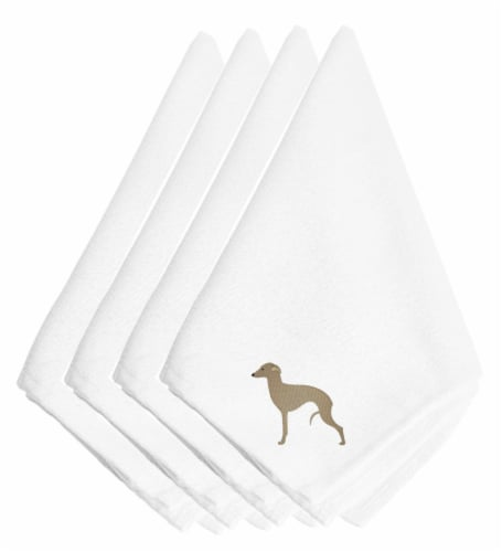 Carolines Treasures  BB3414NPKE Italian Greyhound Embroidered Napkins Set of 4 Perspective: front