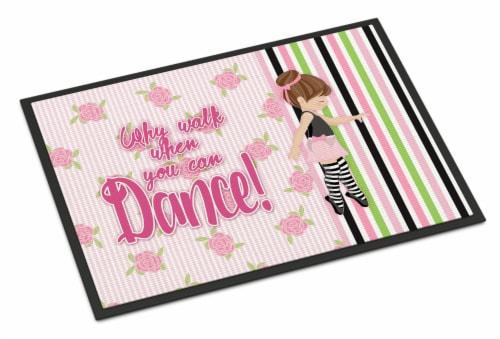 Ballet Dance Stripes Brunette Indoor or Outdoor Mat 24x36 Perspective: front