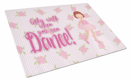 Carolines Treasures  BB5383LCB Ballet Red Short Hair Glass Cutting Board Large Perspective: front