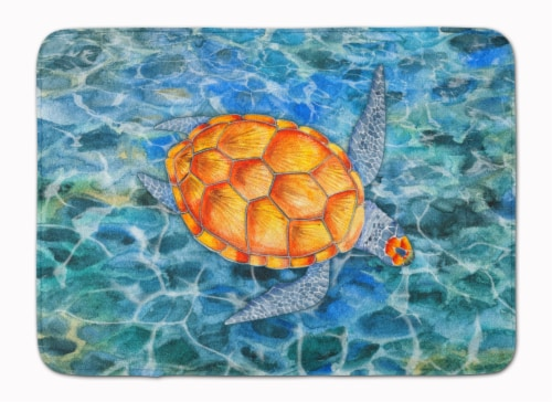 Carolines Treasures  BB5364RUG Sea Turtle Machine Washable Memory Foam Mat Perspective: front