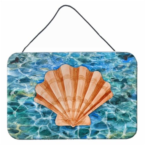 Scallop Shell and Water Wall or Door Hanging Prints Perspective: front