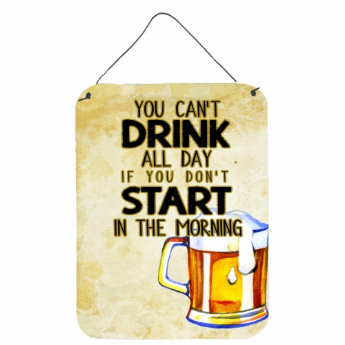 Start Drinking in the Morning Beer Wall or Door Hanging Prints Perspective: front