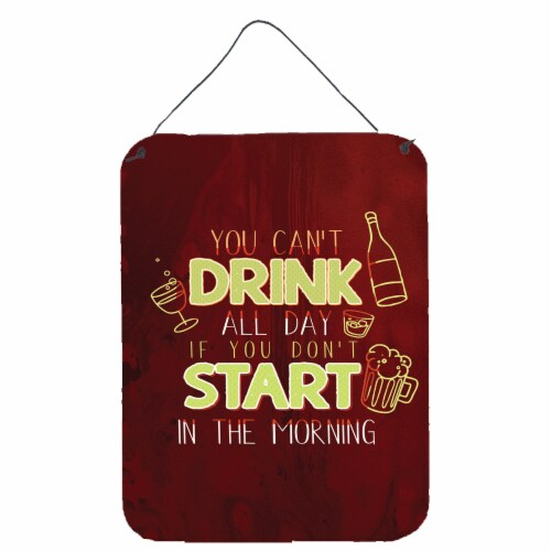 Start Drinking in the Morning Wall or Door Hanging Prints Perspective: front