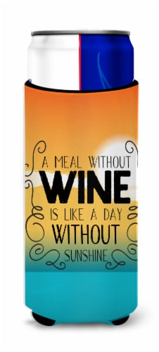 A Meal without Wine Sign Michelob Ultra Hugger for slim cans Perspective: front