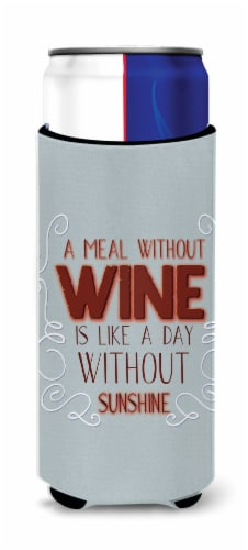 A Meal Without Wine Michelob Ultra Hugger for slim cans Perspective: front