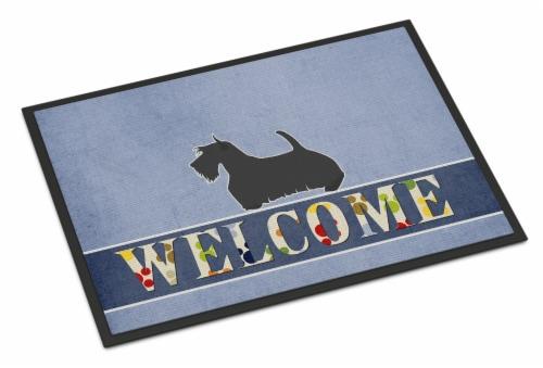 Scottish Terrier Welcome Indoor or Outdoor Mat 24x36 Perspective: front
