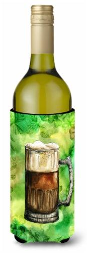Irish Beer Mug Wine Bottle Beverge Insulator Hugger Perspective: front