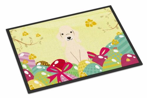 Easter Eggs Bedlington Terrier Sandy Indoor or Outdoor Mat 24x36 Perspective: front