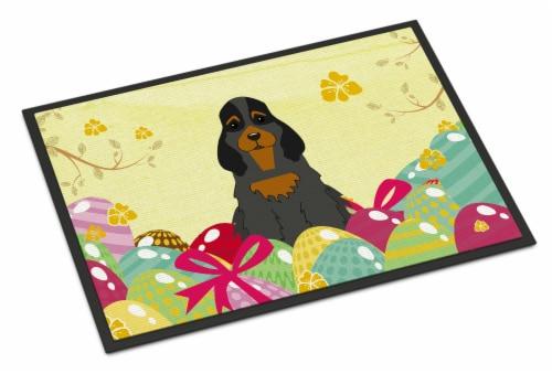 Easter Eggs Cocker Spaniel Black Tan Indoor or Outdoor Mat 24x36 Perspective: front