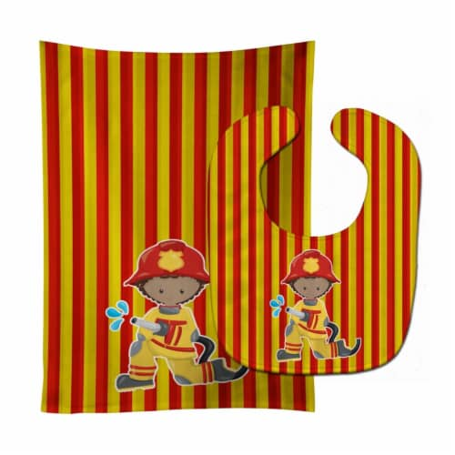Carolines Treasures  BB6996STBU Fireman Boy Baby Bib & Burp Cloth Perspective: front