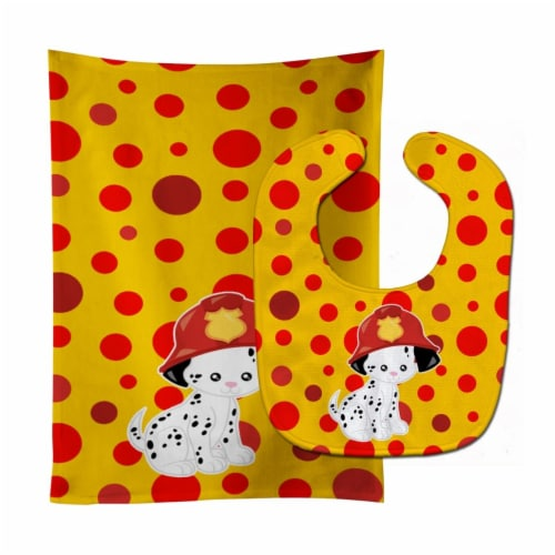 Carolines Treasures  BB6999STBU Fireman Dalmatian Puppy Baby Bib & Burp Cloth Perspective: front