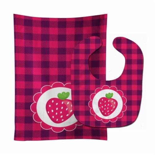 Carolines Treasures  BB7105STBU Stawberry Baby Bib & Burp Cloth Perspective: front